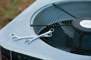 Air conditioner in need of service or repair.